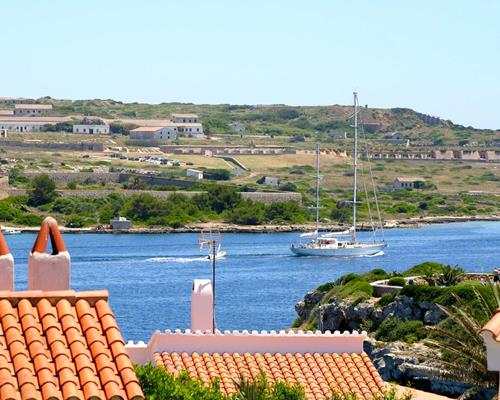 View from the Terrace: Yachts leaving...